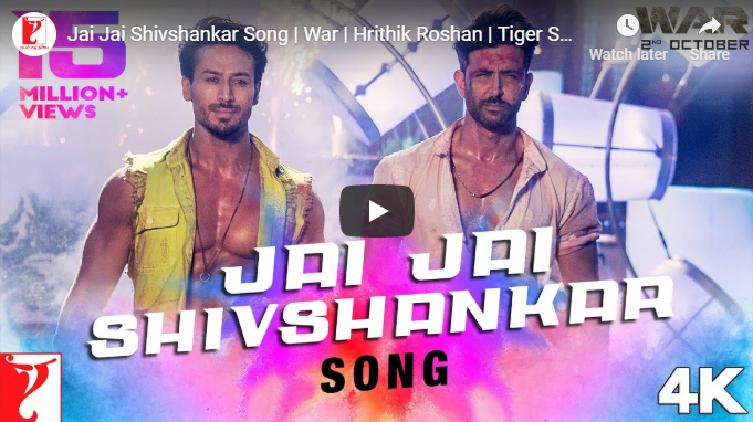 Jai Jai Shivshankar Song Out Now