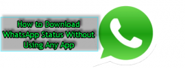 How to Download WhatsApp Status Without Using Any App