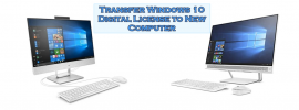 transfer windows 10 license to new hard drive