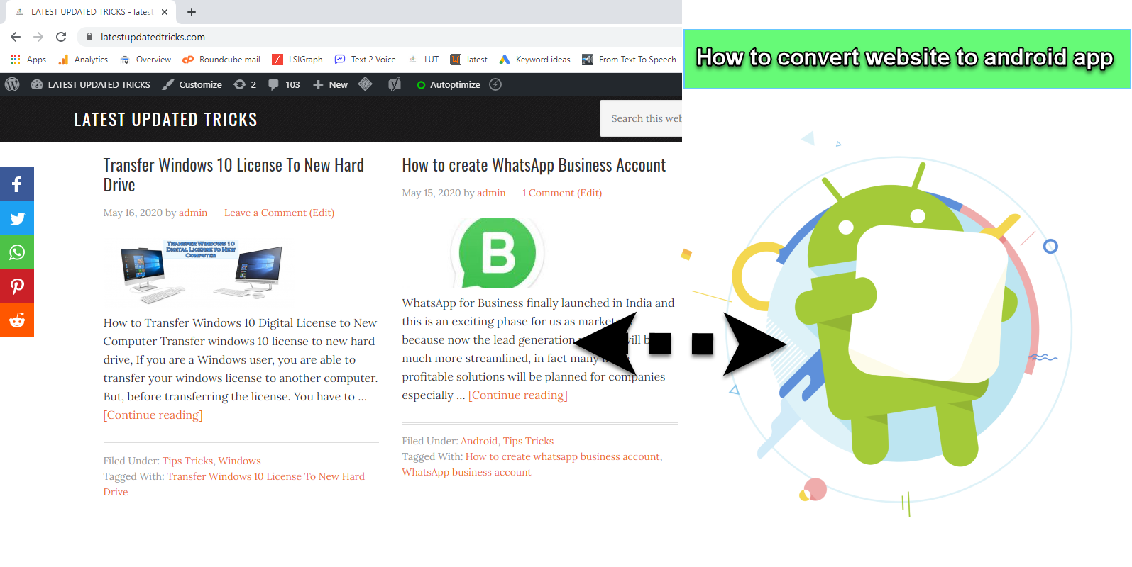 How to convert website to android app