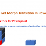 How to get morph transition in power point