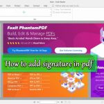 How to add signature in pdf